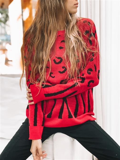 Sweater Pardo  Red